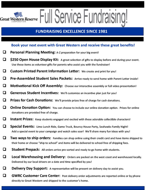 Great Western Fundraising Checklist image